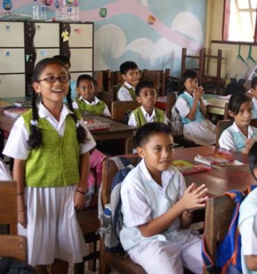 Ambonstad Schoolklas met zangtalent