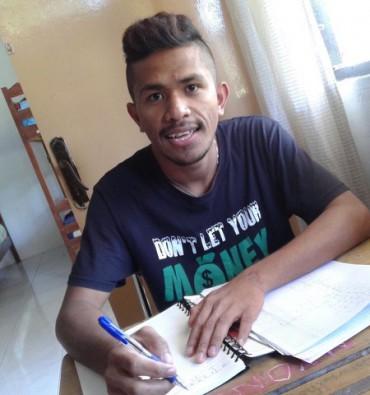 Theo - student van het Domiliana Studiefonds