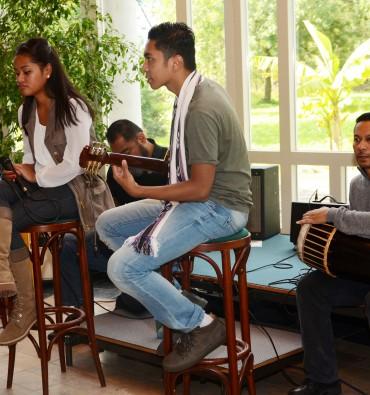 Trio Jaïr & David-Simon Matakena en Patchouky Hinoke op de Domilianadag 2015