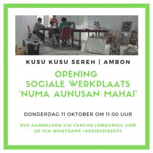 Flyer opening sociale werkplaats