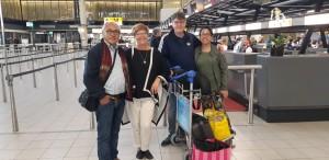 Vertrek bestuur en vrijwilliger Dinie werkbezoek Maluku 2018